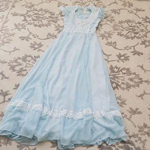 Vintage Gunne Sax prairie Maxi Victorian dress, 9